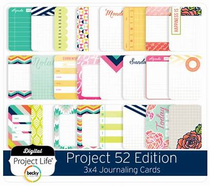 Cards Project Journaling Edition 3x4 Digital Digitalprojectlife