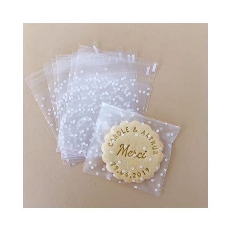 sachet  biscuits  pois blanc pour biscuits print  love