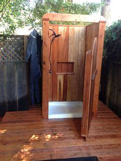 plans to build an outdoor bathroom free outdoor shower wood plans diy