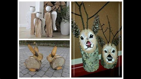 diy log decor ideas wooden christmas decorations youtube