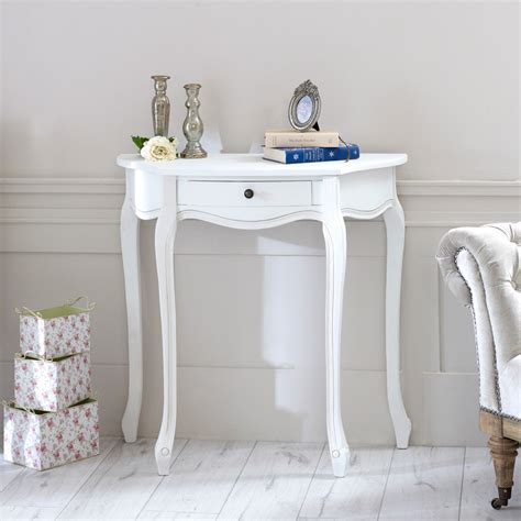 shabby chic half moon table white wooden half moon console table shabby french chic country living room hall ebay
