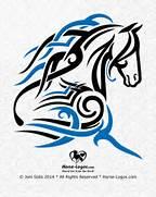 Tribal Style Horse Gra...