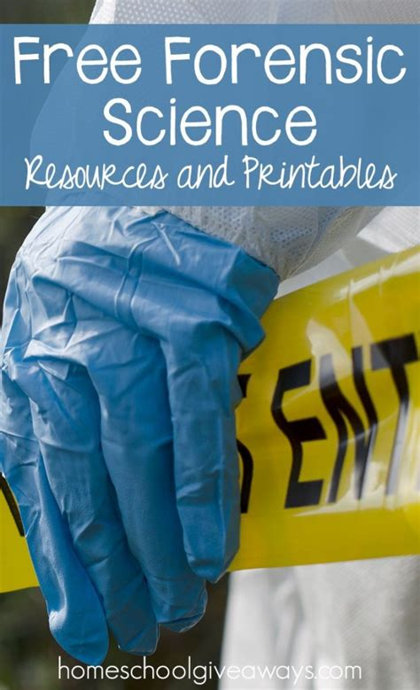 forensic science printables activities