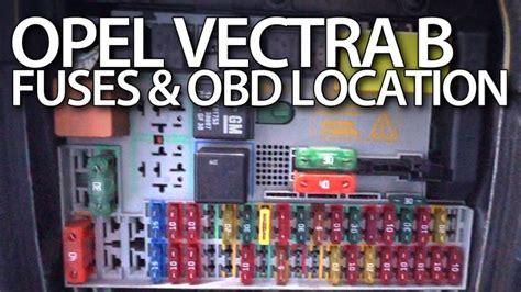 fuses  obd port  opel vectra