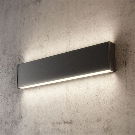 slim h led wall is a surface mounted wall light with both