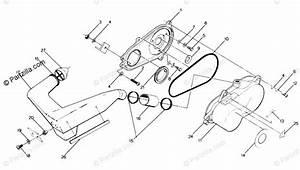 Polaris Atv 1988 Oem Parts Diagram For Clutch Cover Assembly