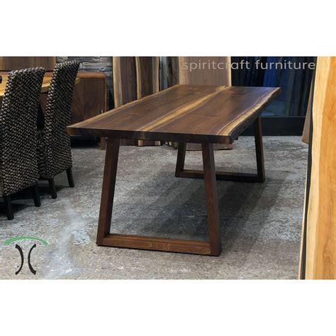 Custom made solid hardwood trapezoid style table legs