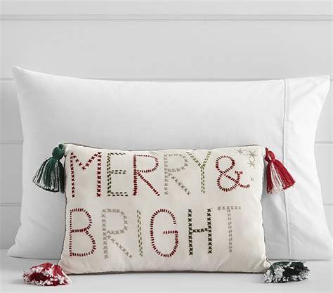 merry bright decorative pillow pottery barn kids