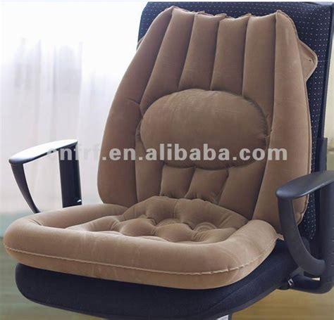 inflatable flocked car seat cushion  large