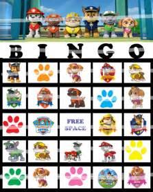 PAW Patrol Bingo Game