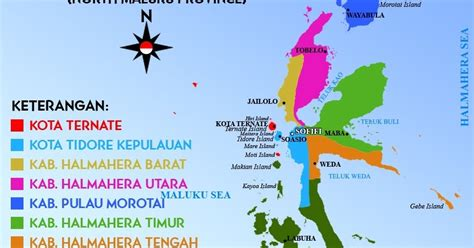 daftar kabupaten  kota  provinsi maluku utara