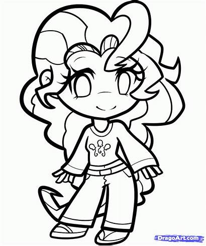 Pony Coloring Human Pages Pinkie Pie Draw