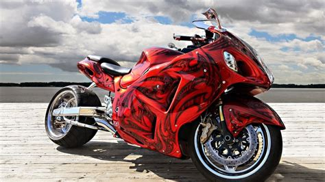 Gorgeous Red Motorcycle Hd Wallpaper