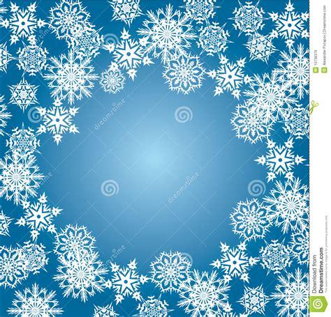 white snowflake frame  blue royalty  stock images