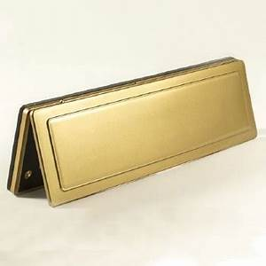 magnetic internal letter box flap brassed 341mm With magnetic letter storage box
