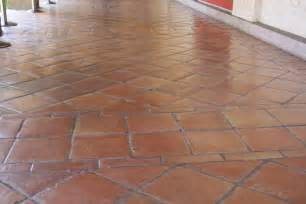 saltillo floor tile in a diagonal pattern home decor gallery mission accesories
