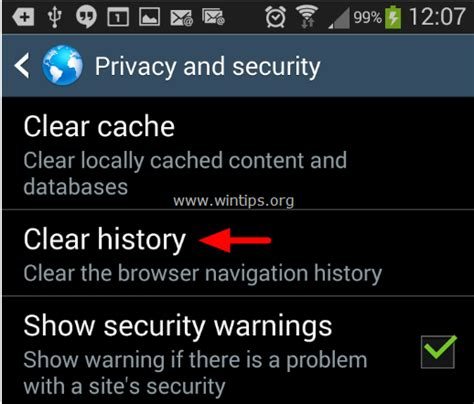 clear history android how to scan and clean your android device from adware