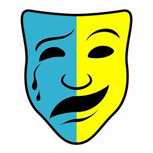 Clip Art: Theater Mask (coloring page) | abcteach