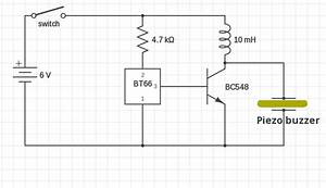 Simple Piezo Buzzer Circuit With Um66t Ic  U2013 Circuits Diy