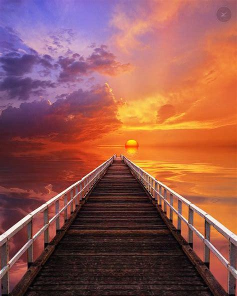 dive   hot summer day sunset pier seascape