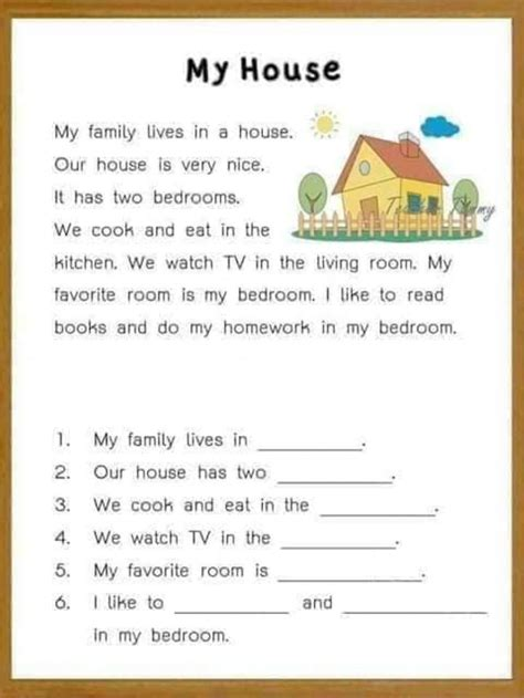 reading comprehension  kids interactive worksheet