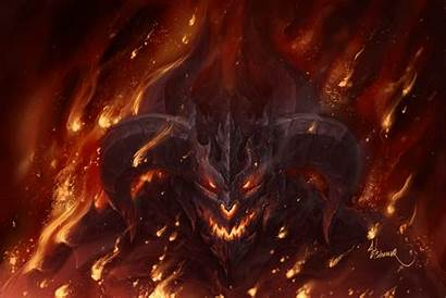 Demon Horns Fire Dark Demons Fantasy Monsters