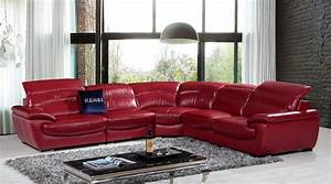contemporary luxury furniture living room bedroomla With red leather sectional sofa contemporary