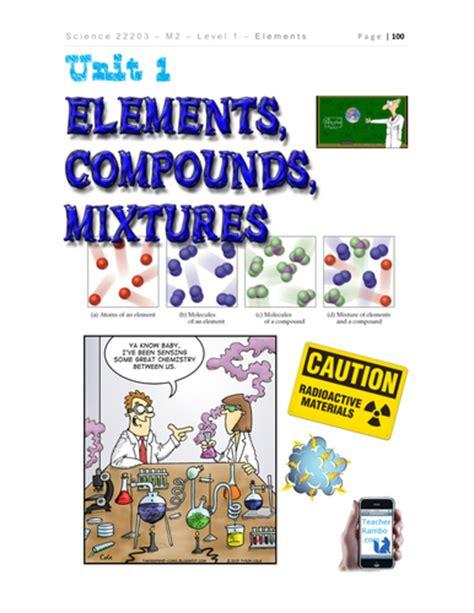 elements compound mixture chemistry  teacherrambo