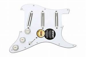 Loaded Strat Pickguard Dimarzio Bc