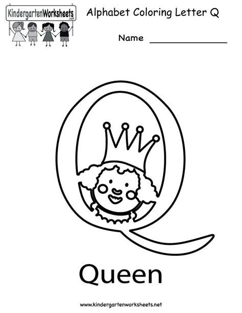 kindergarten letter q coloring worksheet printable letter of the week q pinterest