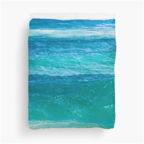 deep teal ocean water duvet cover beachlovedecorcom