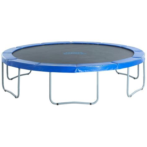 windows and doors com bounce 14 ft troline with blue safety pad