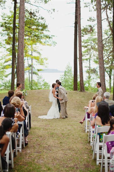 real wedding a summer michigan wedding our ceremony