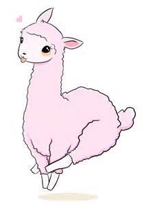 Cute Llama Cartoon Drawing