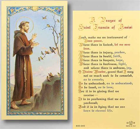 st francis assisi prayer hirten church supply