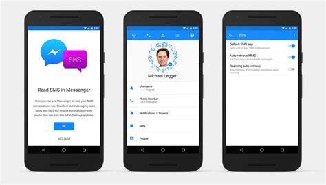 phone not receiving texts you can now use messenger to send and receive