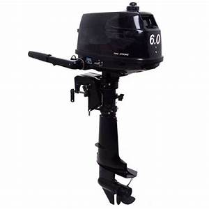 6 Hp 2 Stroke Outboard Motor Tiller Shaft Boat Engine With