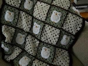 Owl Crochet Baby Blanket