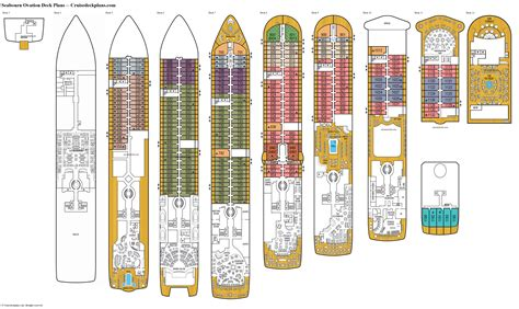 seabourn ovation deck  deck plan