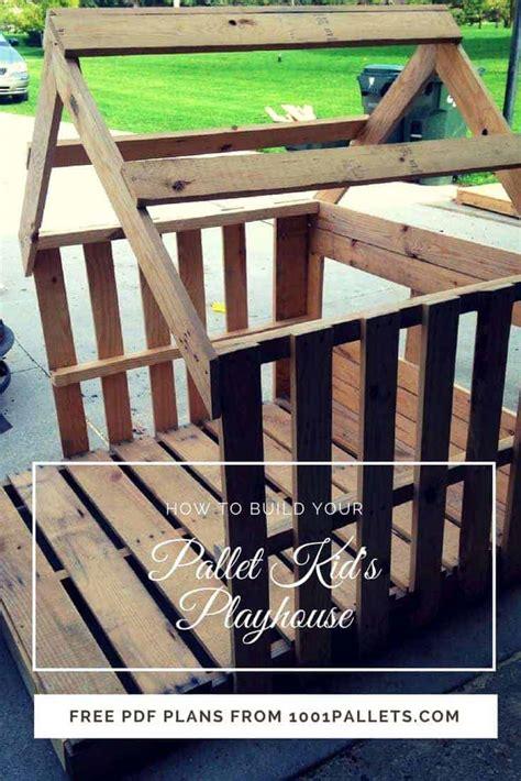 easy kids pallet playhouse   pallet tutorials