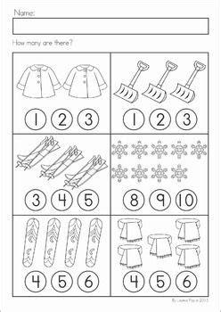 winter math worksheets activities no prep kindergarten