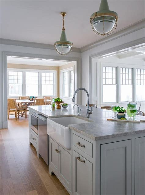 pictures of kitchen islands with sinks ben gray owl kitchen with quartzite countertop home bunch interior design ideas
