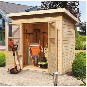 petit abri de jardin en bois 222m2 merseburg 2 karibu With petit abri de jardin