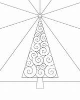 Tree Coloring Trees Winter Outline Swirly Xmas Printable Cp Bigger Version Numbers sketch template