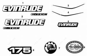 Evinrude 2008 175 - E175dpxscr  Decals