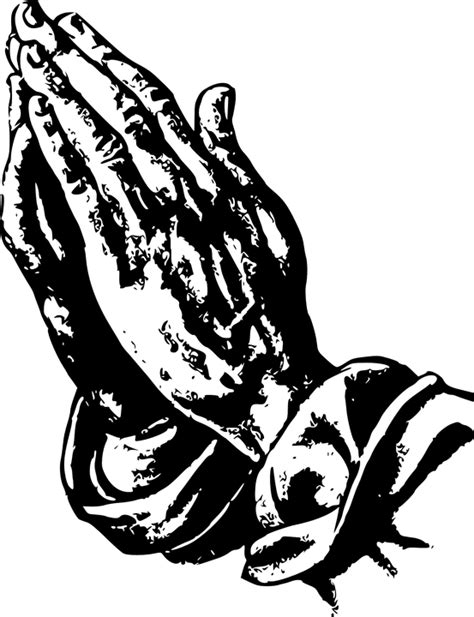 Black And White Praying Hands Png & Free Black And White
