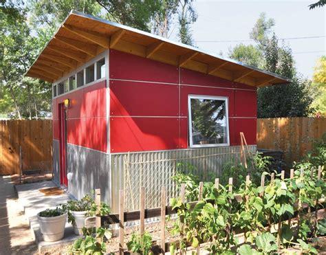 shed sheds studio prefab play metal corrugated backyard modern dwell siding office garden refuge provides garage studios kits outdoor homes