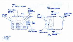 Honda Civic 1997 Fuse Box  Block Circuit Breaker Diagram