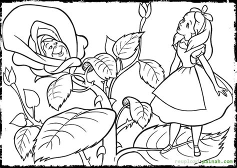 Alice In Wonderland Coloring Pages To Download And Print