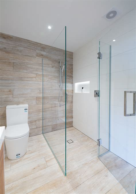 Two Shower Bathroom by Two Sided Shower
